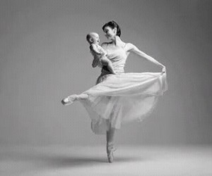 baby, cute, and ballet image