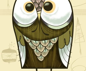 drawing, owl, and hoot image