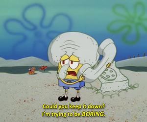 funny, boring, and spongebob image
