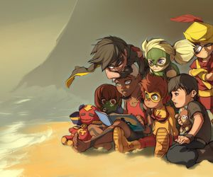 robin, superboy, and young justice image
