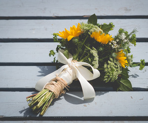flowers, photo, and yellow image