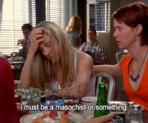 Carrie Bradshaw, miranda, and sarah jessica parker image
