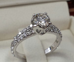 engagement, ring, and fashion image