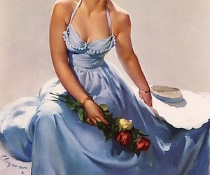 1950, 50's, and beautiful woman image