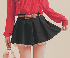 fashion, red, and skirt image