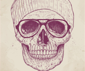 skull, hipster, and cool image