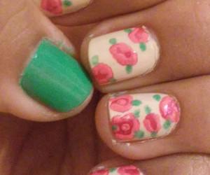 flowers, nail art, and nail polish image