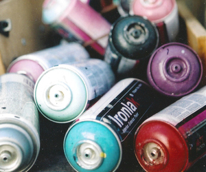 cans, film, and paint image