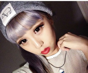 asian, beanie, and fashion image