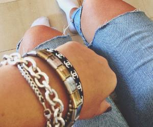 blue jeans, bracelets, and tiffany&co image
