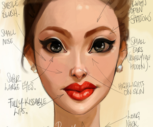 pretty, drawing, and face image