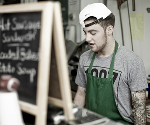 mac miller, photography, and tattoo image