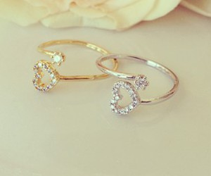 gold, silver, and heart image