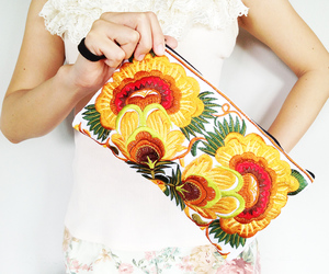bag, clutch, and embroidery image