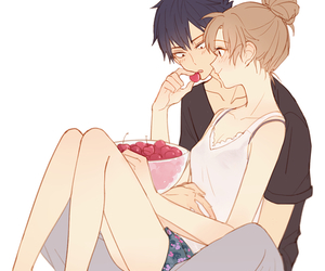 anime, couple, and toradora image