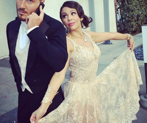dancing with the stars, val chmerkovskiy, and janel parrish image