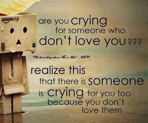 love and crying image