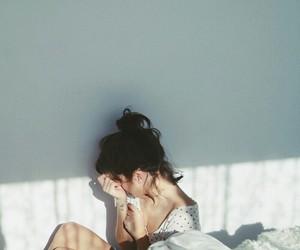 girl, sad, and vintage image
