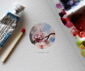 art, watercolour, and love it image