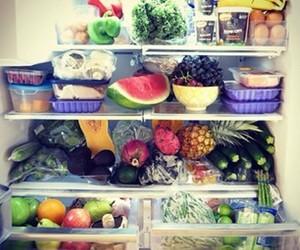 food, fridge, and health image