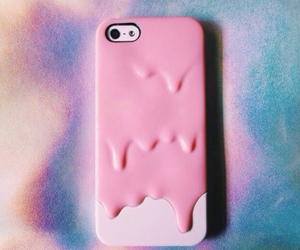 pink, iphone 5, and iphone 5 pink melty case image