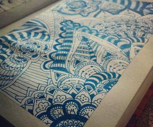 blue, doodle, and doodling image