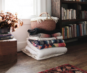 books, home, and blanket image