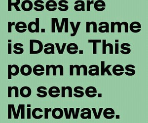 funny, poem, and dave image