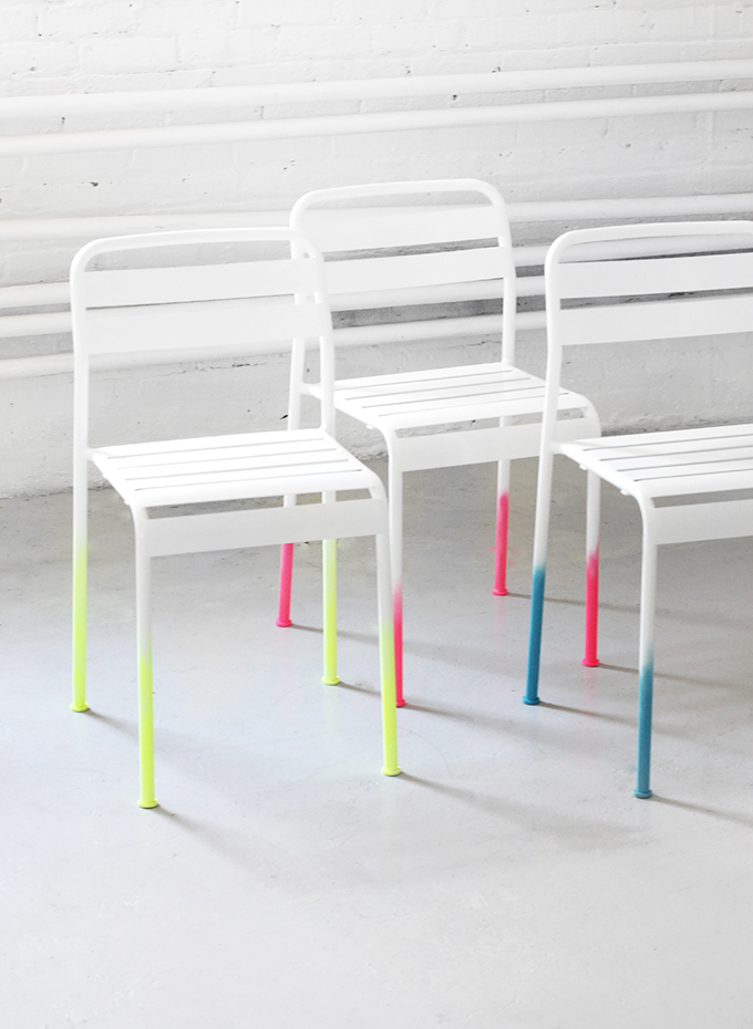 diy and neon ombre chair image