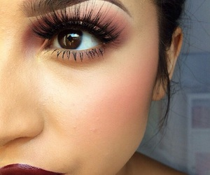 makeup, lips, and lashes image