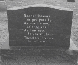 death, grave, and quotes image