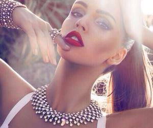 girl, model, and lips image