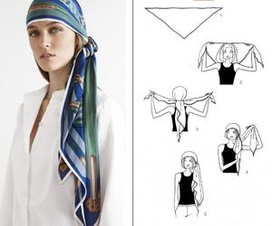 fashion, style, and foulard image