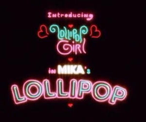 lollipop, neon, and mika image