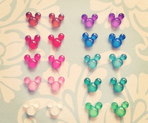 blue, pink, and mickey mouse image