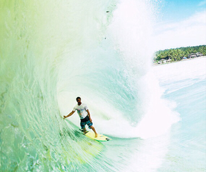 sea, surf, and surfing image