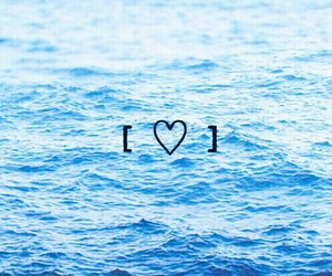 heart, sea, and blue image