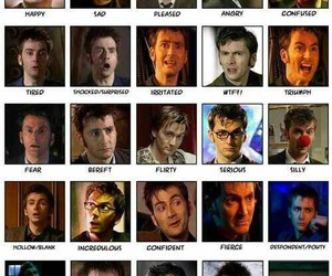 david tennant, doctor who, and faces image