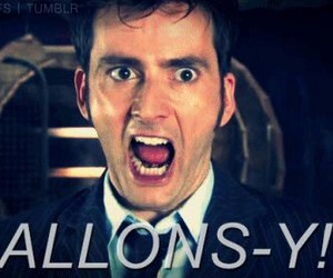 david tennant, doctor who, and allons-y image