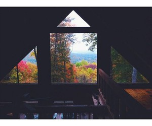 window, autumn, and colors image