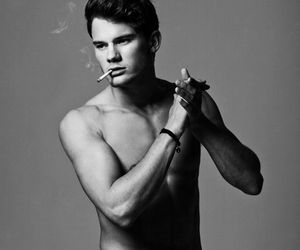 jeremy irvine, black and white, and boy image