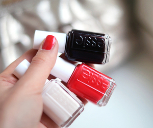 nails, essie, and red image