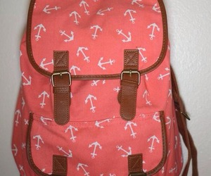 anchor, backpack, and girly image