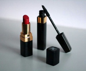 chanel, lipstick, and mascara image