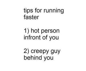 funny, running, and tips image