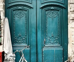 door, blue, and paris image