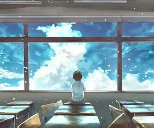 anime, sky, and art image