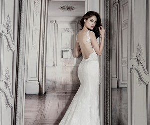 exclusive, wedding dress, and white image