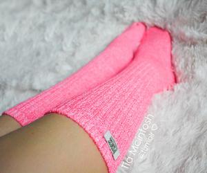 pink, socks, and girly image