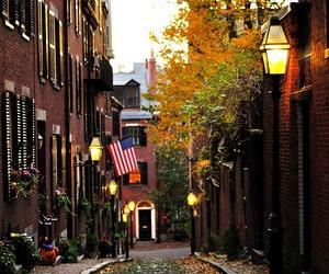 city, autumn, and boston image